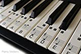 Music Keyboard for 61 KEY SET Piano learn to play faster LAMINATED clear plastic PS1C 61. 36 white keys stickers in a pack.