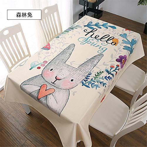 qwdf Nordic einfache Moderne Tischdecke Tischdecke Baumwolle und Leinen net rote Tischdecke Sonnencreme kleine frische runde Tisch Sofakissen
