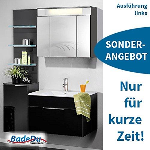 Fackelmann Badmöbel Spar-Set KARA Anthrazit (5-teilig) links, 08031