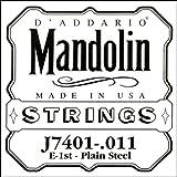 D\'Addario Corde seule en acier pur pour mandoline D\'Addario J7401, première corde, .011