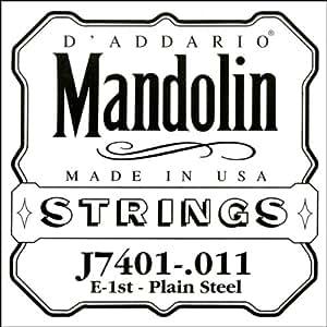 D'Addario Corde seule en acier pur pour mandoline D'Addario J7401, première corde.011
