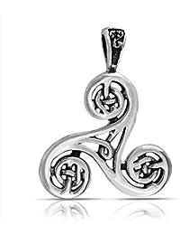 Bling Jewelry Trinidad Nudo Celta Trikele Colgante epiral Plata Esterlina 925