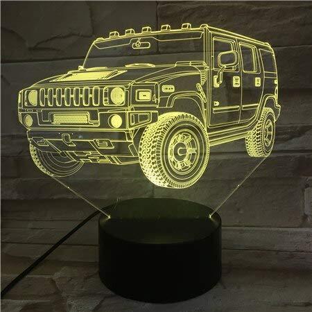 3D-Lampe Jeep Offroad-Fahrzeug Bright Base Atmosphere Farbwechsel Kein Weihnachtsgeschenk Led Nachtlichtlampe