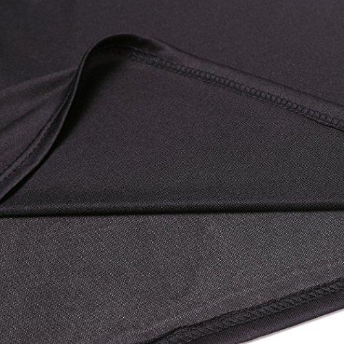 cooshional Muskelshirt damen elegant Tops damen V ausschnitt Hemd für party schwarz grau 32-42 Schwarz