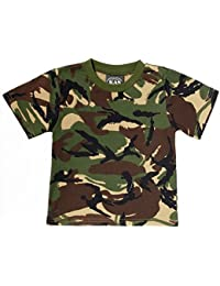 Kids Army Camouflage T-Shirt Age 11-12 Years 100% Cotton