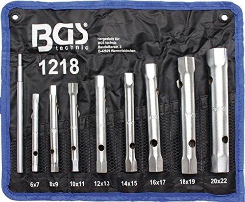 Bgs Technic 1218 - Set di chiavi a tubo (8 pezzi, da 6 a 22 cm)