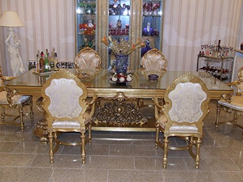 LouisXV Barock Esstisch Tisch Barock Rokoko Vp9955-6,0 antik Stil Massivholz. Replizierte...