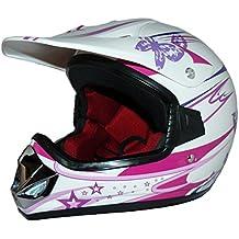 Protectwear Niños Casco Cross MaX Racing rosa brillante V310-Chica Tamaño XS (juventud L