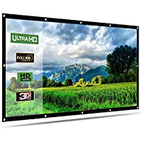 Projector Screen, LATIT 100 Inch Portable Projection Screen 16:9 Movie Screen Foldable for Indoor Outdoor Home Theater Front and Rear Projection