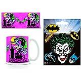 Set: Batman, Batman Catwoman, Dc Originals Taza Foto (9x8 cm) y 1 Batman, Pegatina Vinilo Autoadhesivo (12x10 cm)
