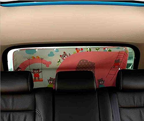 2 Stück Cartoon Auto Heckscheibe Sonnenschutz Abdeckung Seite Auto Sonnenschutz Mesh Visier Schild Bildschirm 98 Cm * 50 Cm,B