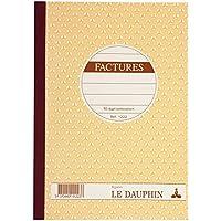 Le Dauphin 1222d–Lote de 5Manifold texté papel autocopiativo Factures 21x 14,8cm 50Dupli