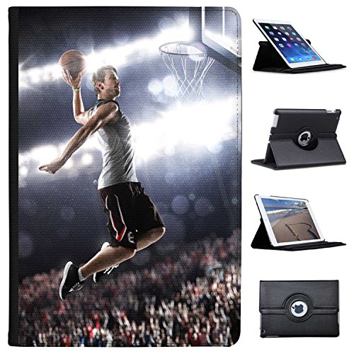 Basketball-superstar (Fancy A Snuggle Superstar springt zu Basketball-Korb Case Cover/Folio aus Kunstleder für Das Apple iPad Pro 10.5