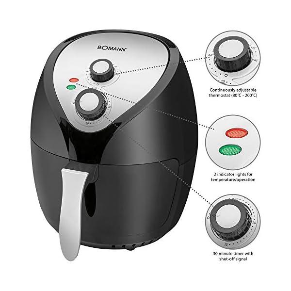Bomann Fr 6002 H Cb Heiluft Fritteuse 36 L Stufenlos Regelbarer Thermostat 30 Minuten Timer Mit Endsignal 2 Kontrolleuchten