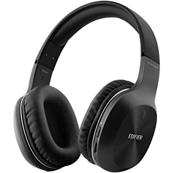 Bluetooth Headphones, Edifier W800BT Over-Ear Wireless Headset, Hi-Fi Stereo Noise Canceling Microphone, Supports Hands-Free Calling and Wired Mode for Phones/TV/ PC/Laptop-Black
