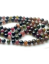 """Naturel 10 mm Noir Tourmaline Gemstone Round Beads Necklace 18/"""""""