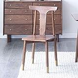 XUE Chaise de Salle à Manger, Simple Noyer Noir Restaurant Chaise en Bois de cuivre Vert Chaise de Bureau Vert Huile de Cire de Bois Finition cuivre Woodism Durable et Stable