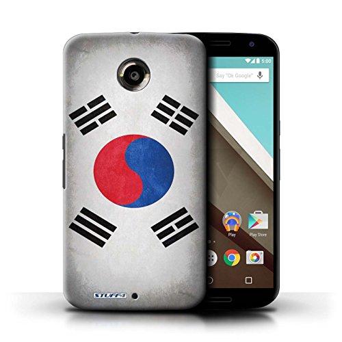 Kobalt® Imprimé Etui / Coque pour Motorola Nexus 6 / Pays de Galles/gallois conception / Série Drapeau Corée/coréen