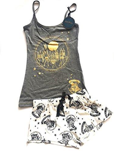 Primark Ladies Harry Potter Hogwarts Camiset PJS Womens Pyjamas Loungewear Girls Vest Shorts Size S - XL