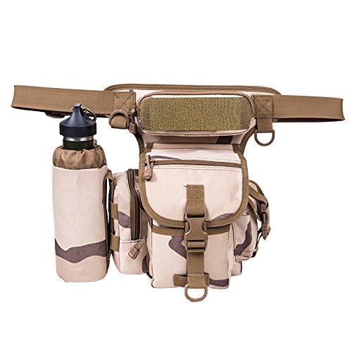 GOUQIN Outdoor Rucksack Klassische Mode Die Multi-Funktion Und Das Paket Von Männern Und Frauen An Der Taille Und Bein Paket Halt Paket Kameratasche Kit 3 Sha1