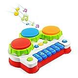 NextX Musikspielzeug Klavier und Trommel mit Lichter Baby und Kleinkinder