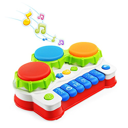 NextX Baby Musical Toys Piano & Drum Instruments Early Education and Learning Keyboard Gift for Toddler Boys & Girls