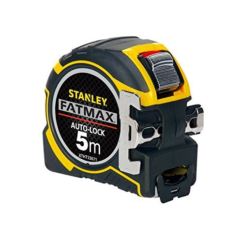 Stanley FatMax Pro Bandmaß Autolock, 5m Länge, 32mm Klingenbreite, BladeArmor-Überzug, Bi-Material Gehäuse, XTHT0-33671