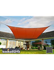 Kookaburra Wasserfest Sonnensegel 5,4m Quadrat Terrakotta