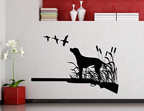 tte Kunst Wandsticker stehend auf Gras mit Vögeln Muster speziell gestaltete Wandtattoo Home Room Decor Wm 60x88cm ()
