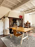 benuta Teppiche: Moderner Designer Flachgewebe Teppich Dawn Lace Grau 100x150