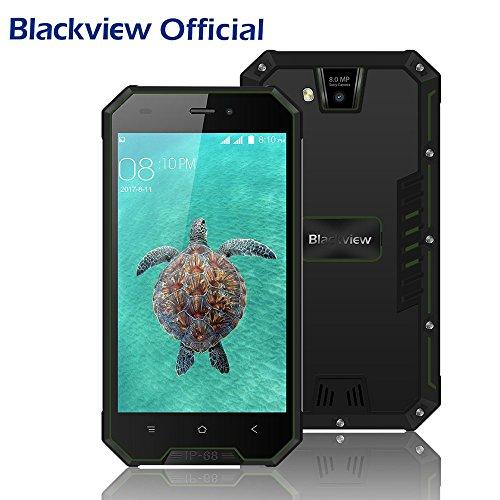 Telephone Portable Debloqué, Blackview BV4000 Pro Cadeaux de Noël Android 7.0 Téléphone Pas Cher 2GB RAM et 16GB ROM 4.7 Pouces HD Ecran avec 8MP+2MP Caméra 3G Smartphones Etanche GPS/GLONASS-Vert