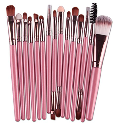 Bigood Maquillage Outils Pinceau Kit Eyeliner Make Up Brush Set 15Pcs Pinceaux