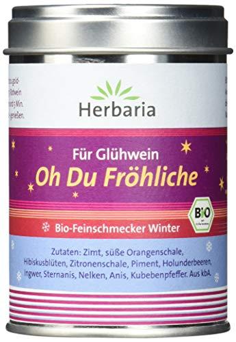"""Herbaria \""""Oh Du Fröhliche\"""" Gewürz für Glühwein oder Punsch, 1er Pack (1 x 70 g Dose) - Bio"""