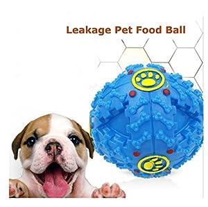 Ularma Chien Jouet Grincement Rire Charlatans Sound Training Dogs Ball Nourriture Distributeur Durable Jouets à Mâcher Bleu S