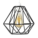 Retro Style Black Metal Basket Cage Ceiling Pendant Light Shade