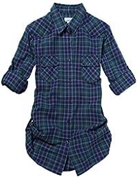 Match Damen Flanell Kariert Shirt #B003