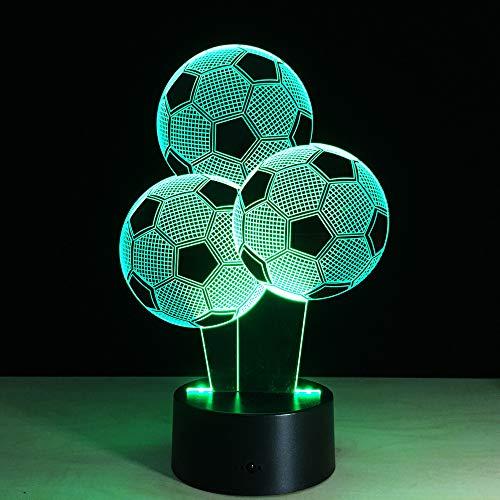 led baum fußball ballon 3d lampe 7 farbwechsel usb tisch schreibtischlampe für kinder urlaub geschenk ()