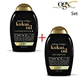 OGX organix–Set Kukui Oil Shampoo 1X + 1X condizionatore