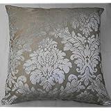 """Cream Velvet Damask Cushion Cover 18"""" x18"""""""
