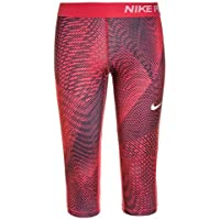 Nike niña g N Pro Capri aop3Pantalones Capri, niña, Color Sirene Rot/Hell Fusion Red/Weiß, tamaño Large
