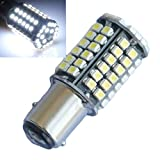 2pcs Bay15d 1157 80 SMD 3528 LED Ampoule Lampe Feu Clignotant Blanc 12V Auto Voiture