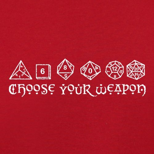 Choose your Weapon (D&D Dice) - Herren T-Shirt - 13 Farben Rot