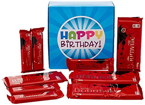 The Ultimate Bournville Dark Chocolate Lovers Happy Birthday Gift Box - By Moreton Gifts - Full of Bournville Bars