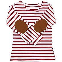QUICKLYLY Camisetas de Manga Larga Niños Raya Pull-over Sudaderas paraBebé  Blusas 57a87c5c3136