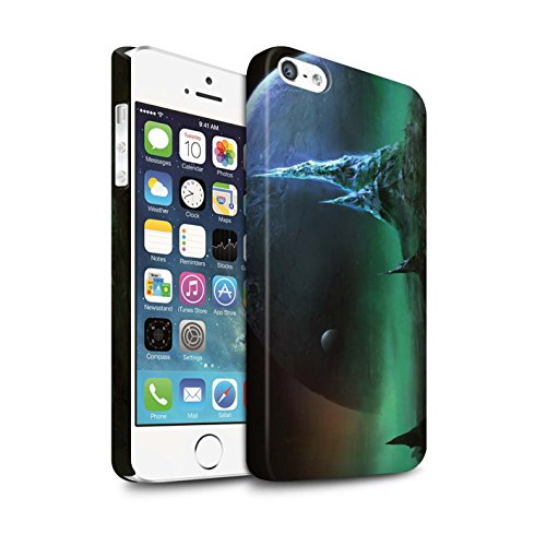 Offiziell Chris Cold Hülle / Matte Snap-On Case für Apple iPhone 5/5S / Pack 12pcs Muster / Fremden Welt Kosmos Kollektion Saphir Spitzen