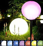30 cm Jumbo Giant Color Changing LED Solar Garden Mood Ball Globe Stake Light