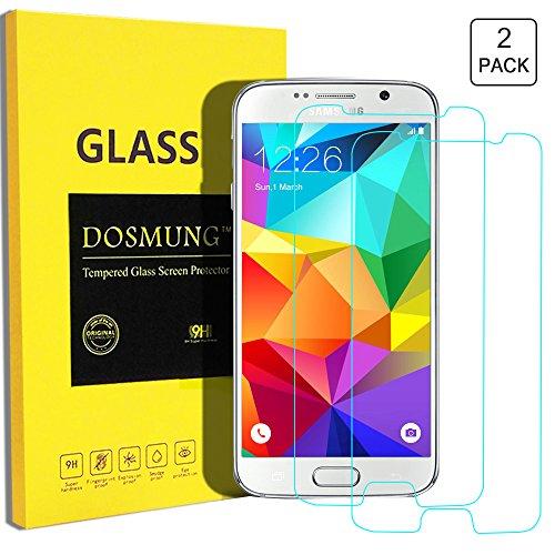 Panzerglasfolie Samsung Galaxy S6 - DOSMUNG Samsung S6 Panzerglas Schutzfolie, 2 Stück, 9H Härtegrad - Schutz vor Wasser, Staub, Kratzern und Blasefrei-Utra Klar Glatt-Hohe Qualität und Feine Verarbeitung