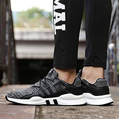 luwell Mens Mesh Trainers Lace Up Lightweight Sports Running Shoes Casual Fashion Anti-Slip Sneakers