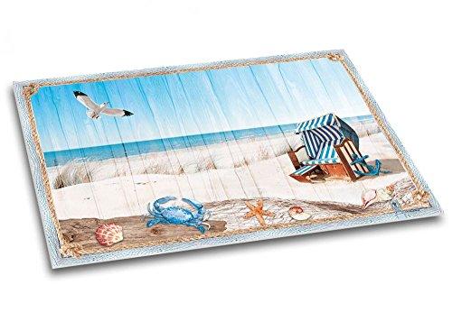 Schreibtischunterlage aus Papier 'Meeresbrise' | Kinder & Erwachsene | DIN A2 | 40 Blatt |...