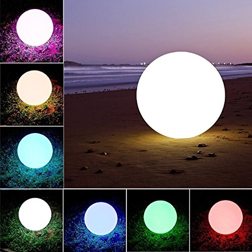 (Weihnachten, Party Dekoration Lichter,LED Ball Stimmungslicht, Nachtlichter,Swimming Pool Floating Light Wasserdicht Mehrere Modi ,Kinder LED Nachtlicht Innen Außenbeleuchtung (20cm/8